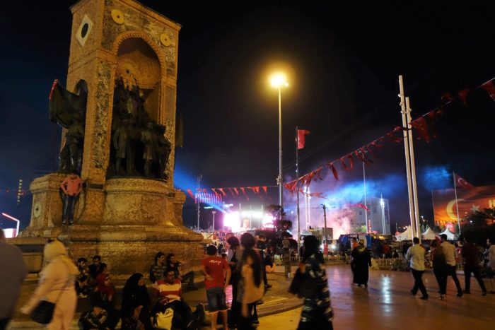 Taksim Square in the heat of prodemocratic demonstrations