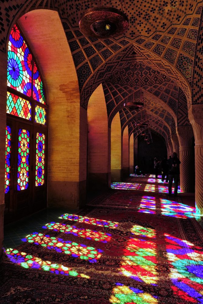... but due to to stained glass windows which fill the whole place with a melody of rainbow every morning.