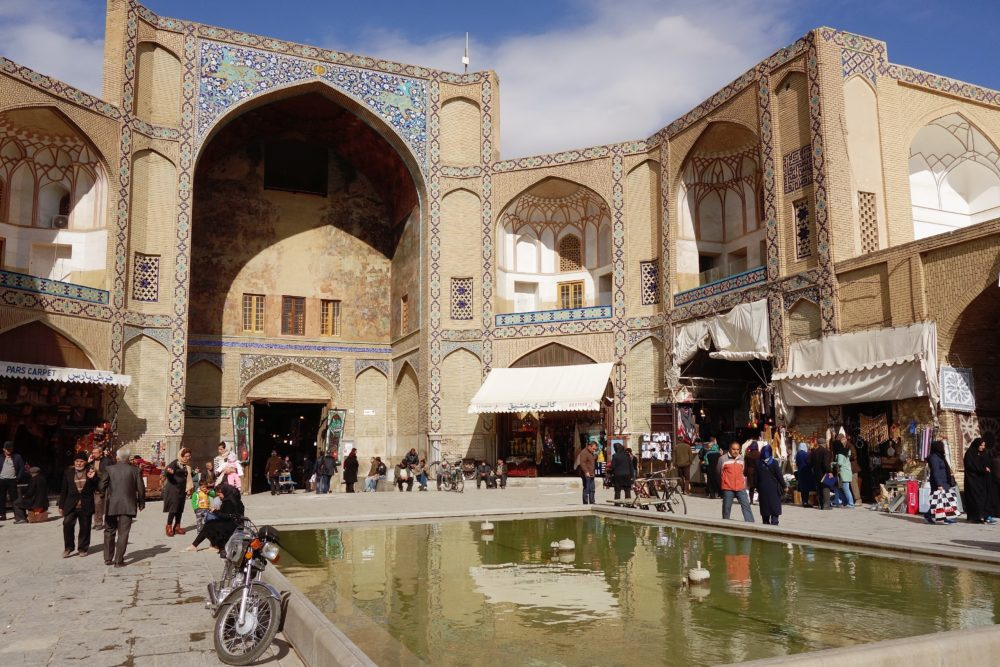 Today we're passing through Esfahan and Abarkuh